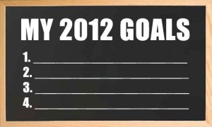 image of my 2012 goals chalk board