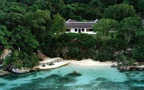 Golden Eye, once Ian Fleming's home in Jamaica where Lane was born and raised.